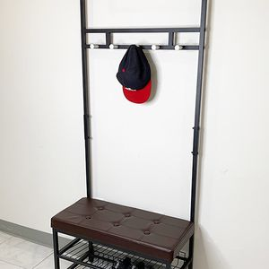 "Brand New $35 Entryway Metal Shoe Rack w/ 28""x13"" Bench Seat and 71"" Tall Coat Hanger Storage for Sale in Whittier, CA"