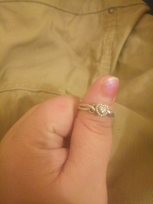 I have a size 7 Sterling silver heart diamond ring for Sale in Columbus, OH