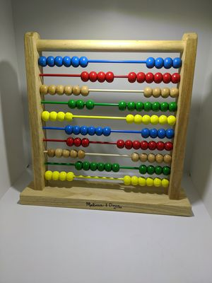ABACUS MELISSA & DOUG Classic Style W/ 100 Wooden Beads Educational Toy Play Set for Sale in Webster, MN