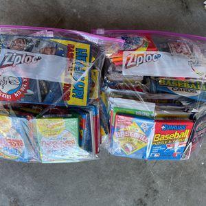 2 Bags of Sealed baseball cards 50 packs in each Ziploc bag $50 Each Bag for Sale in Pompano Beach, FL