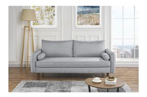 Slim grey cloth sofa - negotiable for Sale in Austin, TX