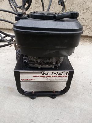 Scold generic 1750 psi pressure washer needs a nozzle comes with hose used runs great works great for Sale in Manteca, CA