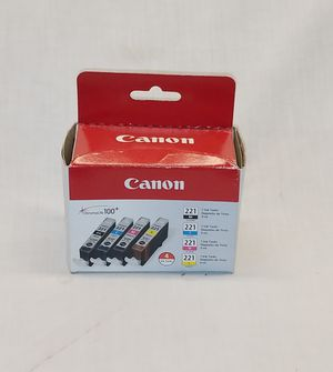 Cannon 221 replacement cartridges 4 pack for Sale in Lacey, WA