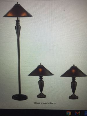 Americana Mica 58/23 in. 3-Pieces Bronze Floor and Table Lamp for Sale in Bakersfield, CA