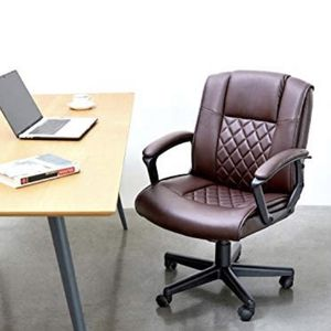 Brand New Ergonomic Office Desk Chair with Wheels Back Support Computer Executive Task Chair with Arms 360 Swivel (Brown) for Sale in Bolingbrook, IL