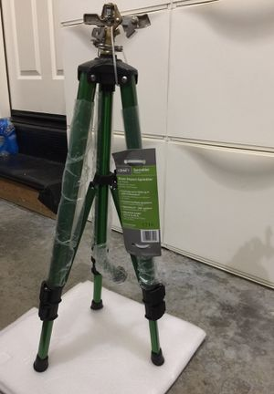 NEW, Orbit Brass impact sprinkler on tripod $30/each, 2 sets for $50,3 sets for $70, only 6 left for Sale in Renton, WA