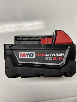 New Milwaukee m18 xc 5.0 battery. for Sale in Chicago, IL