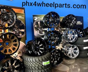 New. Fuel 20x10 wheels & 33x12.50-20 Tires 5 6 8 Lug Available.for TRUCK SUV JEEP ( we Finance) for Sale in Phoenix, AZ