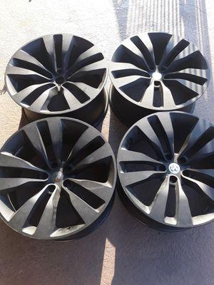 20 inch rims powder coated mat black (65 firm) for Sale in San Bernardino, CA