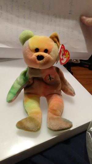 Vintage and Rare Ty Beanie Baby Peace Retired with Errors for Sale in San Antonio, TX