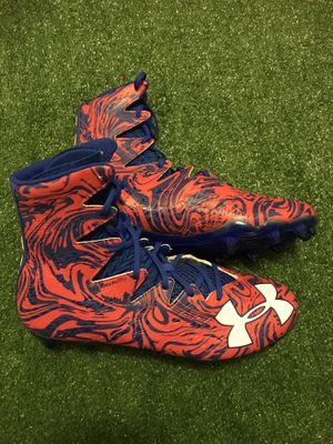 New! Under Armour Highlight Clutchfit Football Cleats Sz 13 Orange/Blue for Sale in Tamarac, FL