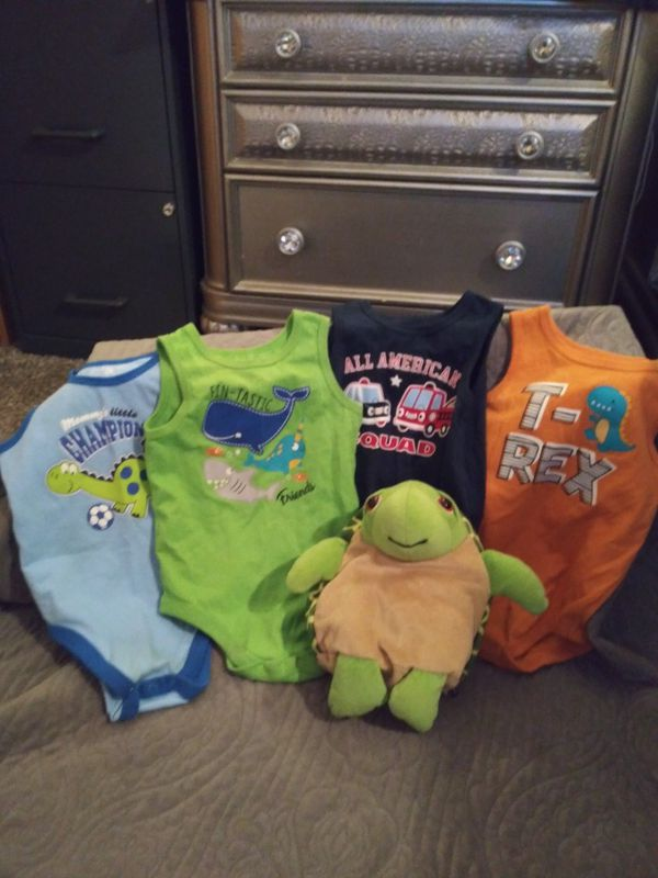 For 18 month old onesies, green 2 in 1 turtle stuffed animal