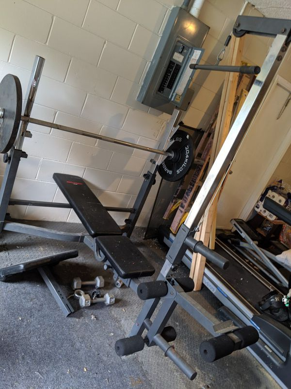 Weight bench w/extra weights