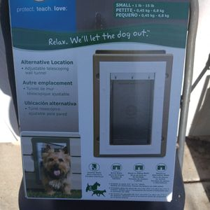 Pet Safe Aluminum Wall Pet Door Small for Sale in Fremont, CA