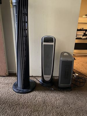Tower fan and 2 heaters for Sale in Pasadena, CA