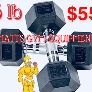 15 Lb Hex Rubberized Dumbbell Pair for Sale in Fort Lauderdale, FL