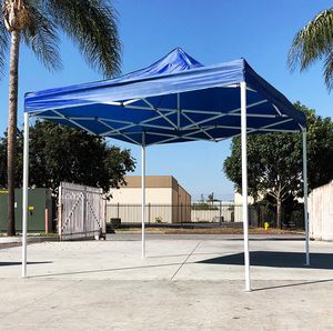 New in box $90 Blue 10x10 Ft Outdoor Ez Pop Up Wedding Party Tent Patio Canopy Sunshade Shelter w/Bag for Sale in Pico Rivera, CA