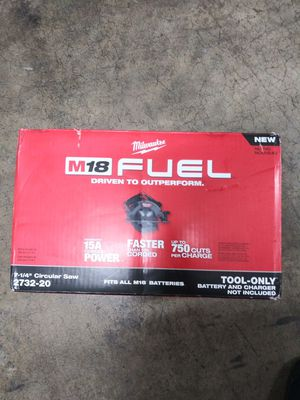 Miwaukee fuel circular saw new in box for Sale in Charlotte, NC