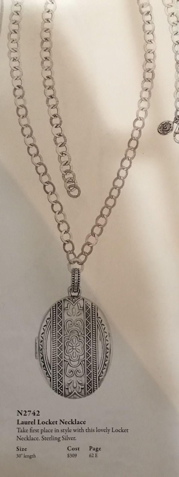 Silpada Laurel Locket Necklace