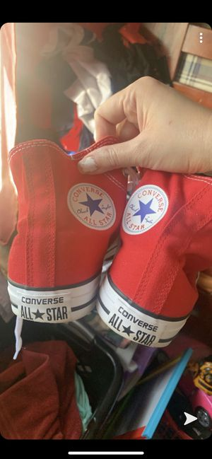 New condition Red Converse Size 7 Men's or Women size 9 for Sale in Fort Worth, TX