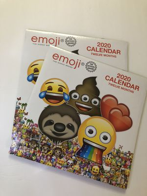 Bundle! Emoji The Iconic Themed 2020 Twelve Month Calendar, Set of 2 for Sale in Baldwin Park, CA