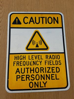 Radio Frequency Caution Sign for Sale in Timberville, VA