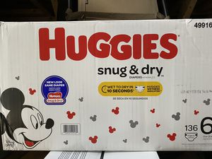 Huggies snug and dry size 6 for Sale in Silver Spring, MD