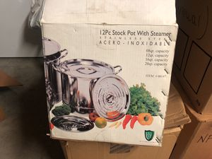 Stock pot with steamer for Sale in Visalia, CA