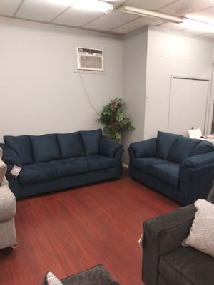 Ashley Blue Darcy Sofa & Loveseat Set for Sale in Parma, OH