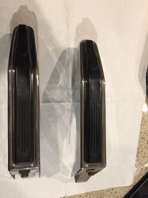 Chrome and rubber rear Gem bumper overrides, likely early 1960s GM. GC for Sale in Mount Prospect, IL