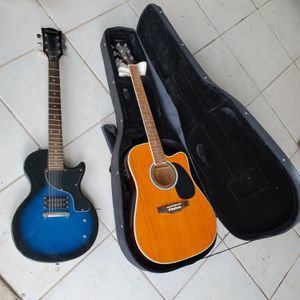 Esteban American Legacy ALC-200 Acoustic Electric Guitar with Case $80 AND Maestro by Gibson electric guitar $75 for Sale in Miami, FL