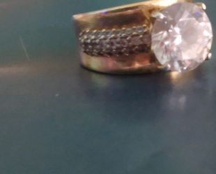 LARGE CZ RING SIZE 5 for Sale in Worcester,  MA