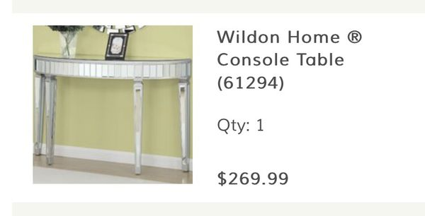 Mirror / Modern Style Console Table