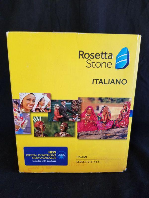 Rosetta Stone Italiano: Italian Levels 1,2,3,4,& 5 Version 4