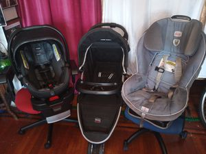 Britax complete set. Stroller, car seat for baby, and car seat for kids.infant for Sale in Queens, NY