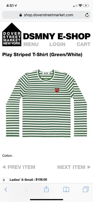 CDG PLAY STRIPPED SIZE LARGE NEW for Sale in Perris, CA