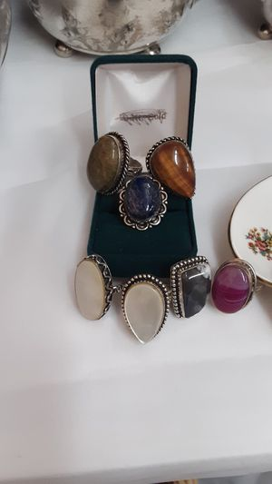 Beautiful natural stone rings (10. EACH )various sizes) for Sale in Valatie, NY