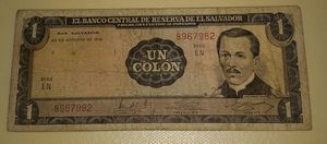 Un colon billete del Salvador 1972 for Sale in South El Monte, CA