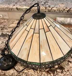 Vintage Tiffany Stained Glass Style Spectrum Chandelier Candelabra Light for Sale in Deerfield Beach, FL