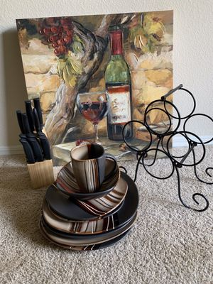 Wine Kitchen Decor and Misc. Dish-wear for Sale in Anaheim, CA