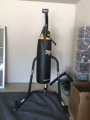 Everlast Hanging Bag, Rack and Speed Bag for Sale in Bee Cave, TX