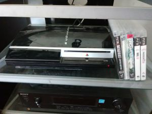 80GB PS3 with hdmi cord and 5 games but no Controller included for Sale in Washington, DC