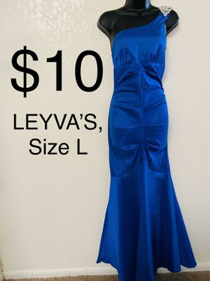 LEYVA'S, Blue Mermaid Ruched Dress, Size L for Sale in Phoenix, AZ