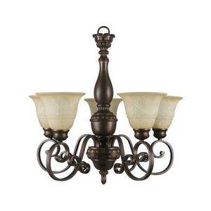 Hampton Bay Carina 5-Light Oil Rubbed Bronze Chandelier Amber Glass for Sale in Lake Forest, CA