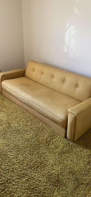 Antique mid century futon fabric for Sale in Torrance, CA