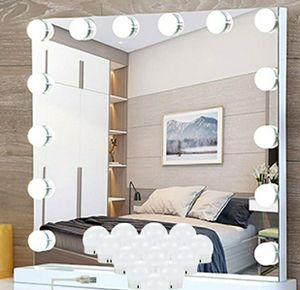 LED VANITY MIRROR LIGHTS KIT HOLLYWOOD MAKEUP w/ 14 DIMMABLE RGB LIGHT BULBS for Sale in Los Angeles, CA