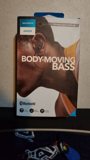 Anker soundcore Sport Air Extra Bass Body Moving Bass Wireless Sport Earbuds Bluetooth Headphones for Sale in Houston, TX