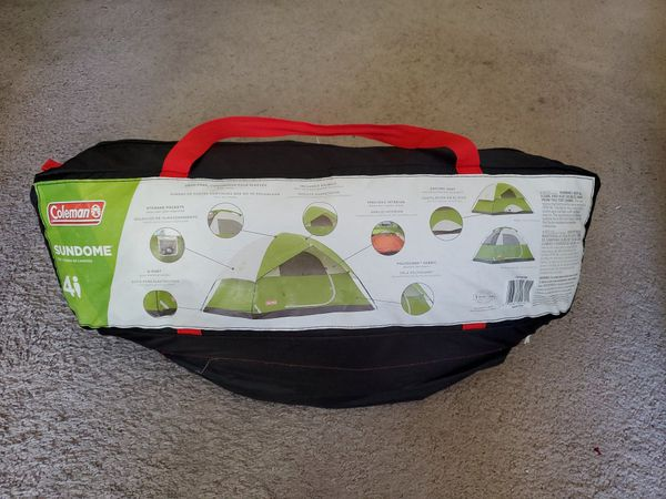 Coleman 4 Person Camping Sundome tent