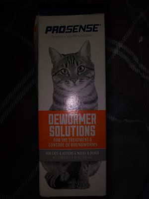 Dewormer Solutions for cats for Sale in Eau Claire, WI