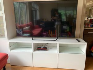 Must go! TV storage unit IKEA BESTA with glass shelves and drawers. Glass top panel. TV not included for Sale in Arlington, VA